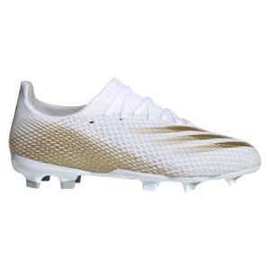 adidas Kinder Fußballschuhe X Ghosted.3 FG Weiß / Gold 36