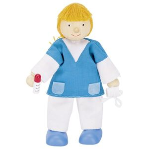 goki 51615 Biegepuppe Krankenschwester, bunt (1 Stück)