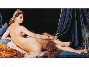 Dominique Ingres - La Grande Odalisque Kunstdruck 80x60cm.
