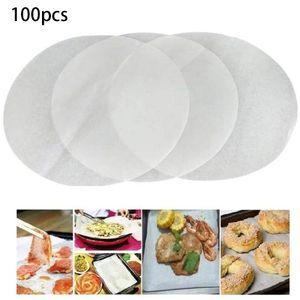 Rundes Backpapier, 100 Stück pro Set, Antihaft-Backpapier, rundes Backpapier, runde Kuchenform, rundes Backpapier für Tortilla-Presse