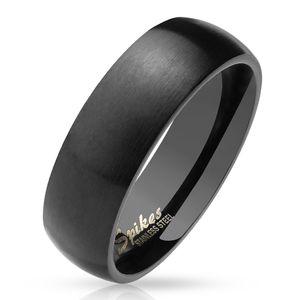 viva-adorno Gr. 55 (17,5 mm Ø) Damen & Herren Edelstahl Ring Partnerring Verlobungsring matt poliert schwarz RS56