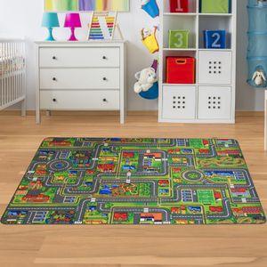 Spielteppich Straße Kinderteppiche  Waschbar & Rutschfest
