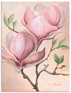 ARTland Alubilder Magnolienblüten Alubild Größe: 30x40 cm