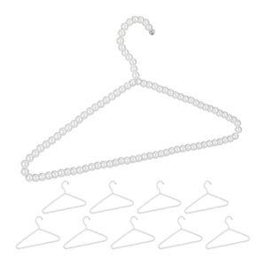 relaxdays Perlen Kleiderbügel 10er Set