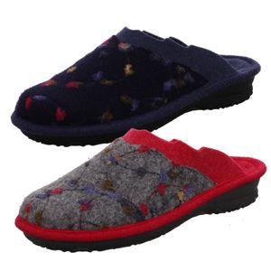 Rohde Damen Hausschuhe Pantoffeln Emden 2254, Größe:41 EU, Farbe:Blau