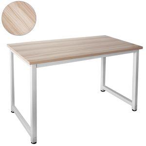 Tisch Computertisch PC Schreibtisch Bürotisch 120 x 60 cm Ahorn Weiß Kingpower