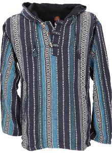 Goa Kapuzenshirt, Baja Hoody - Blau, Herren, Baumwolle, Größe: S