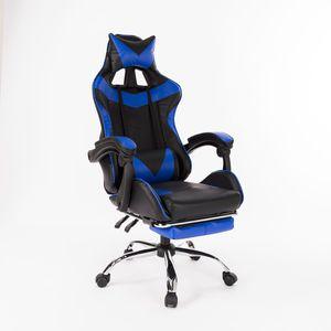 Meco  Gaming Chair aus Kunstleder in Schwarz/Rot   Schreibtisch-Stuhl in Leder-Optik   Design Racing Chefsessel mit Armlehne   Gamer Bürostuhl mit Racer Sport-Sitz