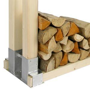 Kaminfeuer Stapelhilfe für Brennholz - Metallfuß