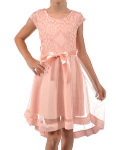 Mädchen Kleid KMISSO mit Spitze und Tüll Rosa 128
