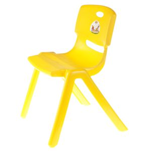 robuster Kinderstuhl 100kg belastbar Kindergarten Kita Stuhl Kinderzimmer Spielzimmer Schule Farben: Gelb