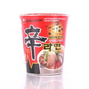 12 x 75g Nong Shim Shin Cuo Noodle Soup Hot & Spicy Instant Nudelsuppe