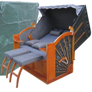 Strandkorb XXL ✔ 2-Sitzer ✔ XXL ✔ anthrazit ✔ PE-Rattan