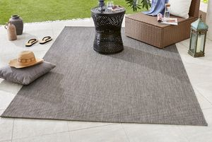 Design In- und Outdoorteppich Flachgewebe Match anthrazit, Größe:160x230 cm