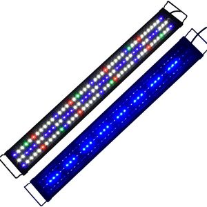 Lumiereholic 90CM-110CM LED Aquarium Beleuchtung Vollspektrum Lampe Aufsetzleuchte Aquarien RGB Plant Fisch