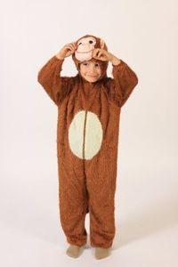 Affenkostüm Kostüm Affe für Kinder Gr. 98 158, Größe:134/140