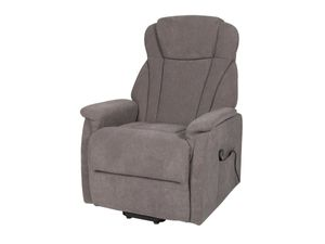Fernsehsessel Ruhesessel TV-Sessel grau elektrische Aufstehhilfe - TORONTO XXL2 - Die Möbelfundgrube