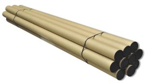10 Versandröhren 3m x Ø 8cm, Länge 300 cm Versandhülsen, Kartonhülsen, Papierhülsen, Hartpapierhülsen, Papprollen, Kartonrolle