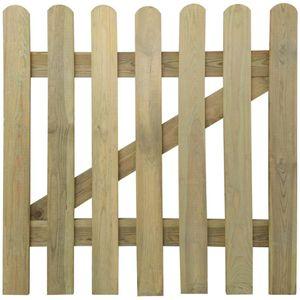 vidaXL Gartentor Holz 100x100 cm