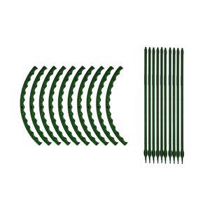 10er Set Pflanzstäbe, Rankhilfe, U-förmige Pflanzenstäbe, Pflanzen Stab, Stäbe Pflanzenstütze, Pflanzhilfe Rankstäbe