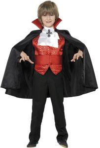 Halloween Kinder Kostüm Vampir Graf Dracula Gr.10-12 Jahre