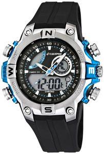 Calypso Digitale Herrenuhr Armbanduhr Chronograph schwarz/Blau K5586/2