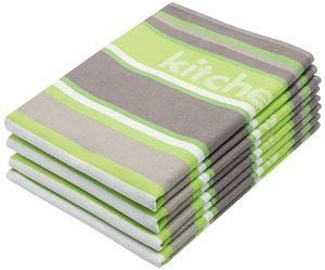 Geschirrtücher 4er Set, 100% Baumwolle, 50x70 cm, grün, 220g/qm