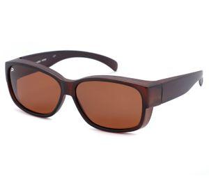 Sonnenbrille Überbrille Leichte Brille mit UV 400 Schutz, Modell wählen :braun