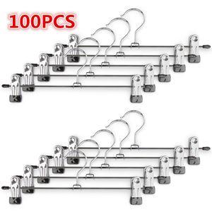 100 Stück Kleiderbügel Clip,Klammerbügel Metall,Anti-Rutsch Hosenbügel Metall Kleiderbügel Rockbügel