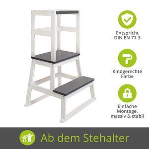 BOMI® Learning Tower für Baby & Kleinkinder | Trittschemel Kinderschemel aus Holz | Kinderhocker & Tritthocker | Steherhöhung als Kindermöbel | Schemel für die Küche oder als Badhocker | Lernturm Lerntower Lernstuhl