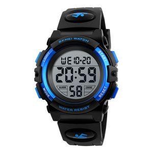 SKMEI Kinderuhr Armbanduhr Mode Multifunktions Wasserdichte Outdoor Sports Leuchtende Uhr fš¹r Kinder Studenten Jungen 1266 Blau
