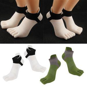 Fußsocken Aus Baumwolle Warme Fußsocken Aus Baumwolle Für Herren Und Damen Weiß + Grün Einheitsgröße Zehensocken Fünf Fingersocken