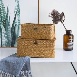 2 Stück Handgemachte Aufbewahrungskorb Bin Box Mit Deckel Schmuck Kleidung