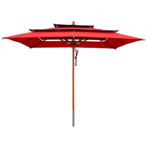 Sonnenschirm 3-lagig 3x3 m rot - Red
