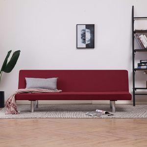 Eleganter- Schlafsofa, Schlafcouch, Bettsofa, Klappsofa für Wohnzimmer Weinrot Polyester 168 x 76 x 66 cm