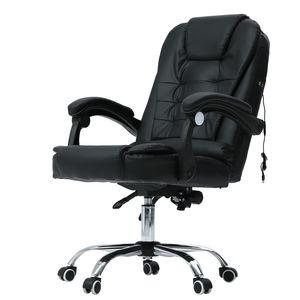 Crenex Bürostuhl Chefsessel Drehstuhl Computerstuhl mit Vibration aus Kunstleder in schwarz