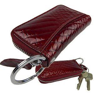 Schlüsseltasche Autoschlüsseltasche Schlüsseletui mit Kroko Design   Leder Rot