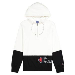 Champion Herren Hoodie Half Zip Hooded Sweatshirts , Größe:M, Farben:ww001-wht/nbk