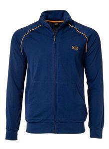 HUGO BOSS Herren Sweat-Jacke - Reißverschluss, Loungewear Blau (Medium Blue) M