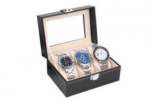 Uhrenkasten Uhrenbox Uhrenkoffer für 3 Uhren Aufbewahrung für Uhren Uhrenschatulle Speicher für Uhren Uhrbox