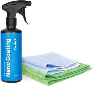 Carefect Nano Coating Autoreiniger 500ml inkl. 2x Mikrofasertücher, Lackpflegemittel, Lackversiegelung zur KFZ-Aufbereitung und Fahrzeugpflege