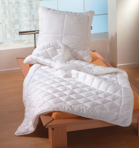 Bettenset 80x80+155x200 cm Microfaser Komfortgröße Bettdecke Kopfkissen