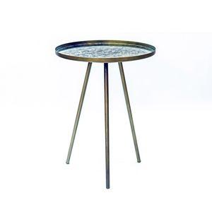 Beistelltisch Couchtisch Wohnzimmertisch Nachttisch Ablagetisch Multi Antik Glas