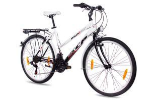 26 Zoll Citybike KCP WILD CAT Lady 18G SHIMANO Tourney weiß schwarz