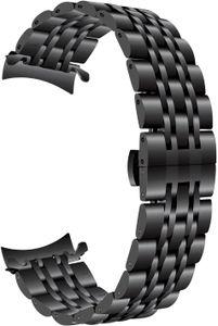 Für Galaxy Watch 46mm/Gear S3 Armband, 22mm Edelstahl Armband Curved End Uhrenarmband Schmetterling Schnalle Armband für Samsung Gear S3 Classic/Frontier/Galaxy Watch 46mm