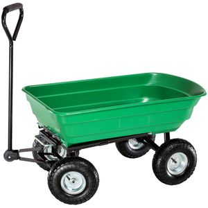 tectake Handwagen kippbar max. 300kg - grün
