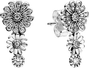 Pandora Garden Ohrstecker 298876C01 Sparkling Daisy Flower Trio Silber 925 Klare Zirkonia