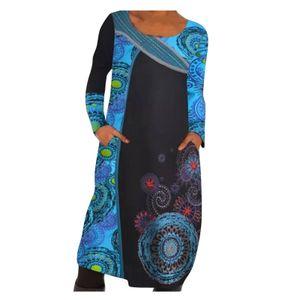 Frauen Plus Size Print Täglich Lässig Ärmelloses Vintage Böhmisches Maxikleid mit V-Ausschnitt Größe:XL,Farbe:Light blue