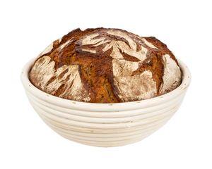 25 cm Gärkorb rund für Brot-Teig - Für Teige 500 g, 750 g, 1 kg - Brotbackkörbchen, Gärkörbchen