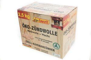 Favorit Öko Zündwolle aus Holzwolle + Wachs, 2,5 Kg.120 Ofenanzünder Grillanzünder Kaminanzünder